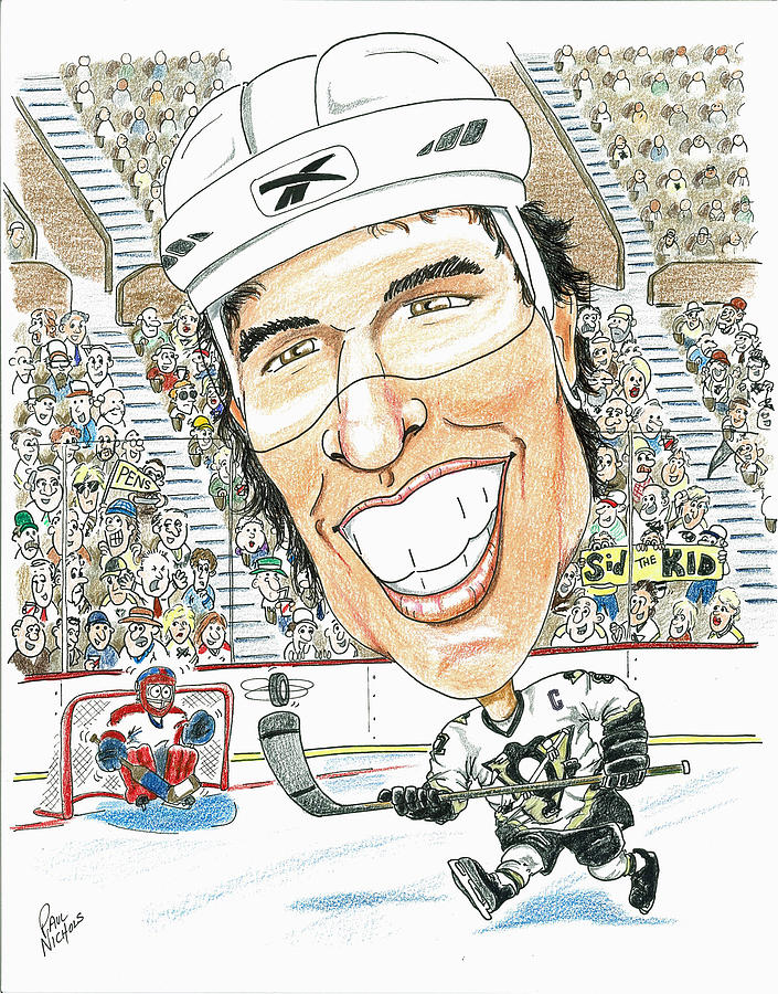 Sidney Crosby Caricature Drawing