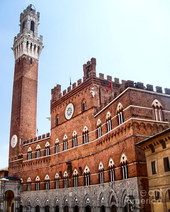 Siena Italy - Torre Del Mangia Painting