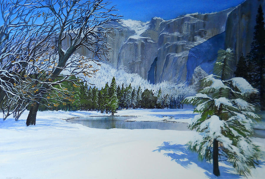 Sierra Winter Painting  - Sierra Winter Fine Art Print