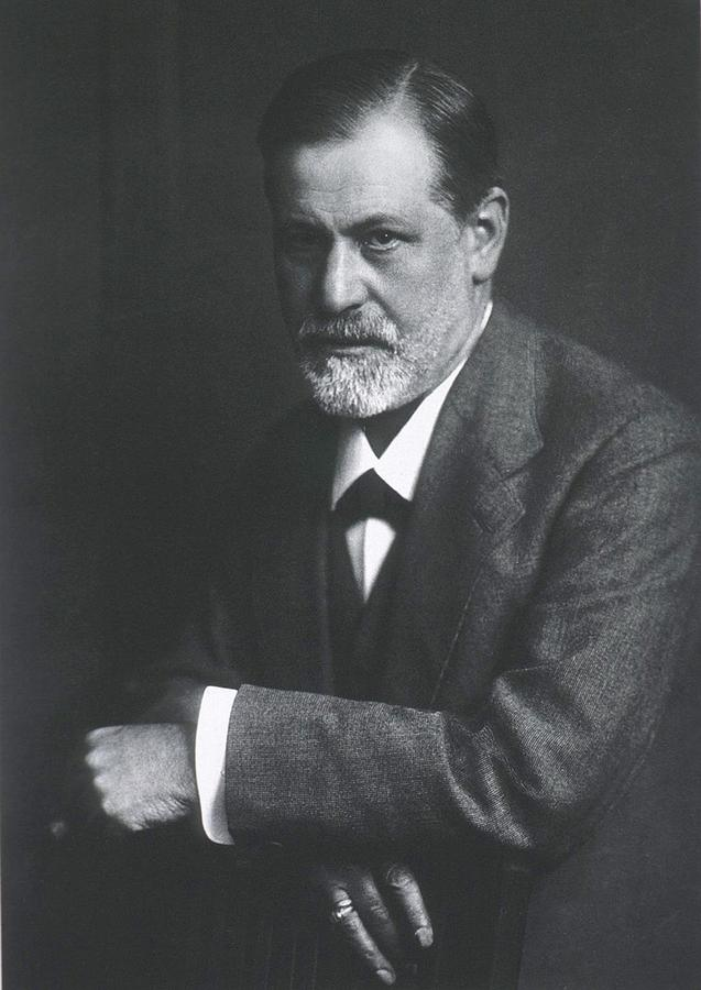 Sigmund Freud 1856-1939, With Arms Photograph