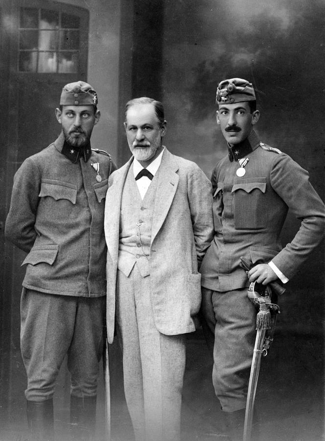 Sigmund Freud 1856-1939, With His Sons Photograph  - Sigmund Freud 1856-1939, With His Sons Fine Art Print