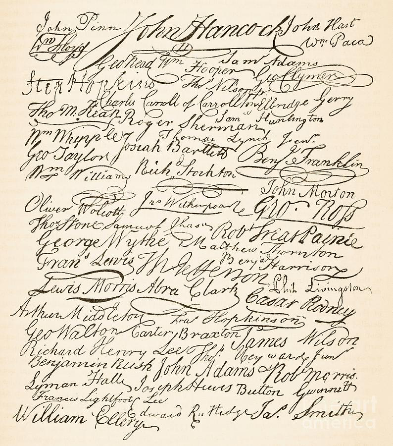 Signatures Attached To The American Declaration Of Independence Of 1776 Painting - Signatures Attached To The American Declaration Of Independence Of 1776 by Founding Fathers