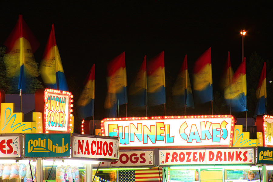 Signs Of Food At The Carnival Photograph  - Signs Of Food At The Carnival Fine Art Print