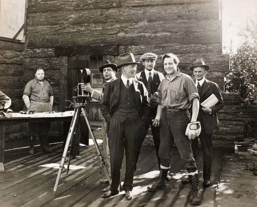 Silent Film Set, C1925 Photograph