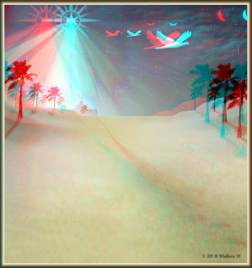 Brian Wallace Digital Art - Silent Night - Red And Cyan 3d Glasses Required by Brian Wallace