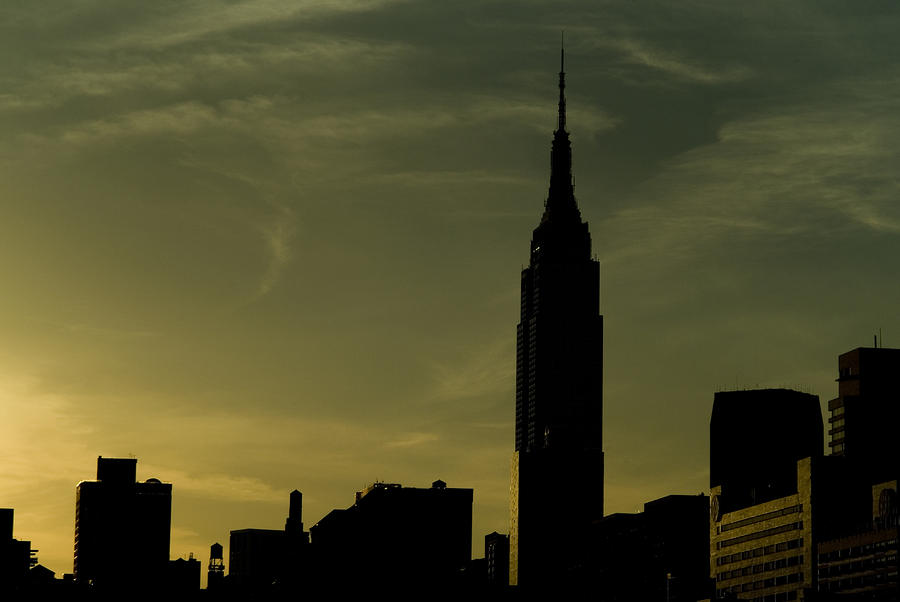 Silhouette Of Empire State Building Photograph  - Silhouette Of Empire State Building Fine Art Print