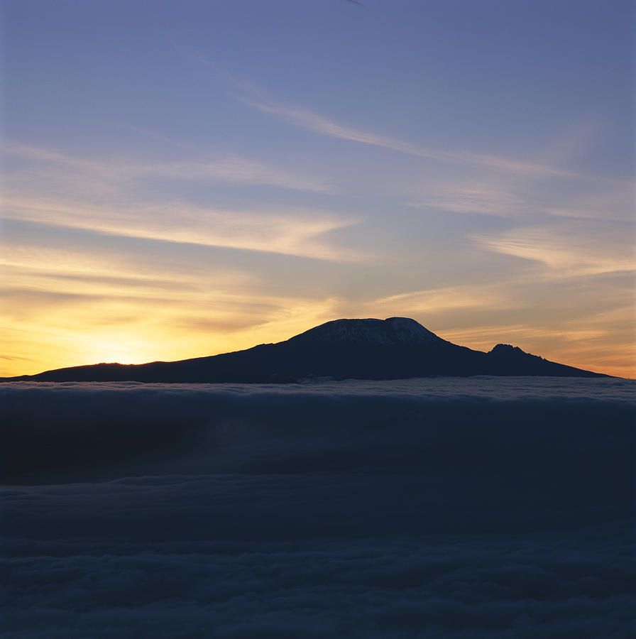Silhouette Of Mount Kilimanjaro Photograph