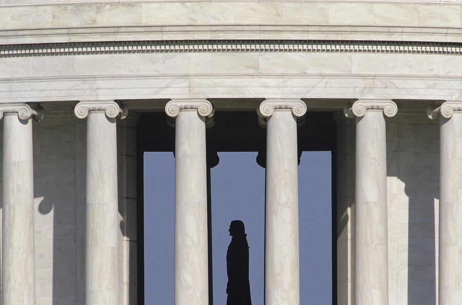 Silhouette Of The Jefferson Memorial Photograph