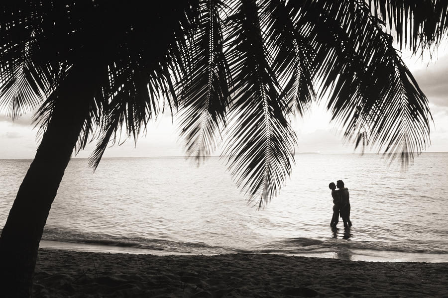 Silhouetted Couple Photograph