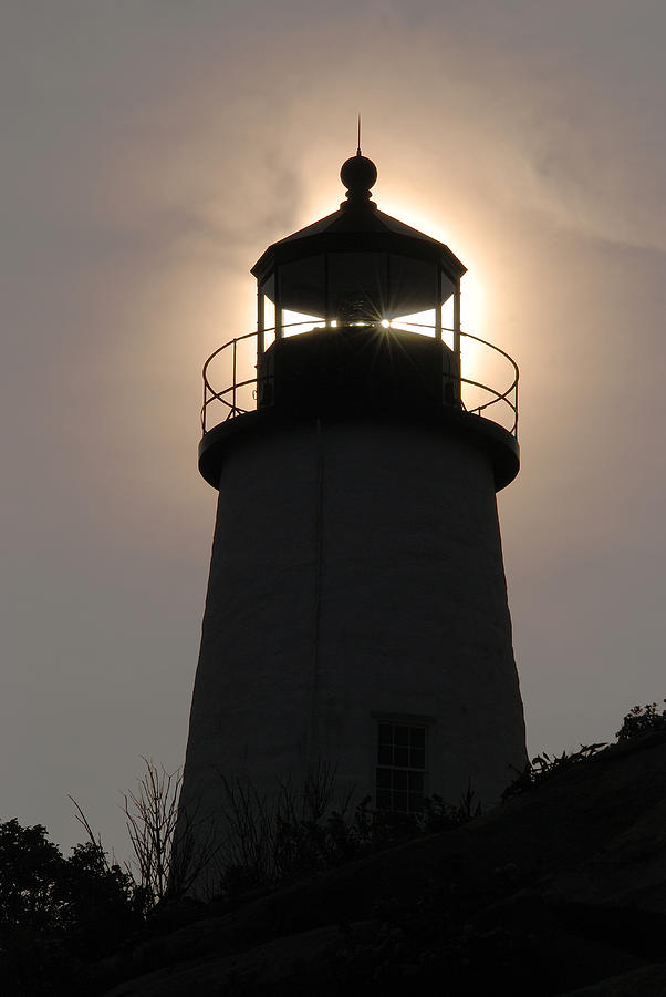 Silhouetted Pemaquid Lighthouse Photograph