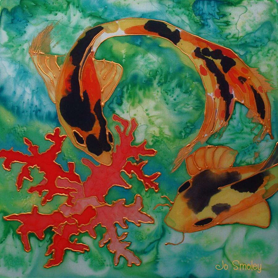 Silk koi by joanne smoley for Koi prints for sale