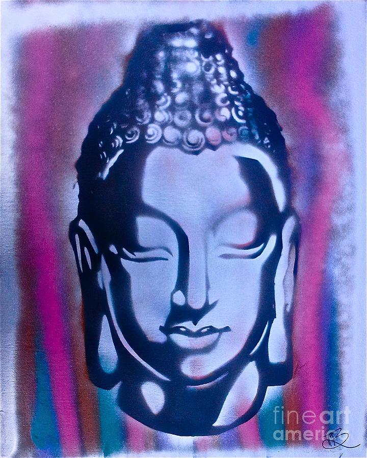 Silver Buddha Painting