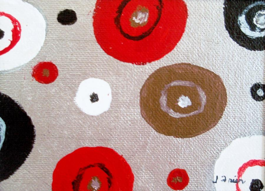 Silver Circle Abstract Painting