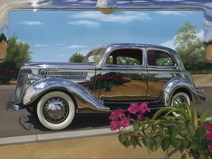 1936 Ford Painting - Silver Dream by Lucretia Torva