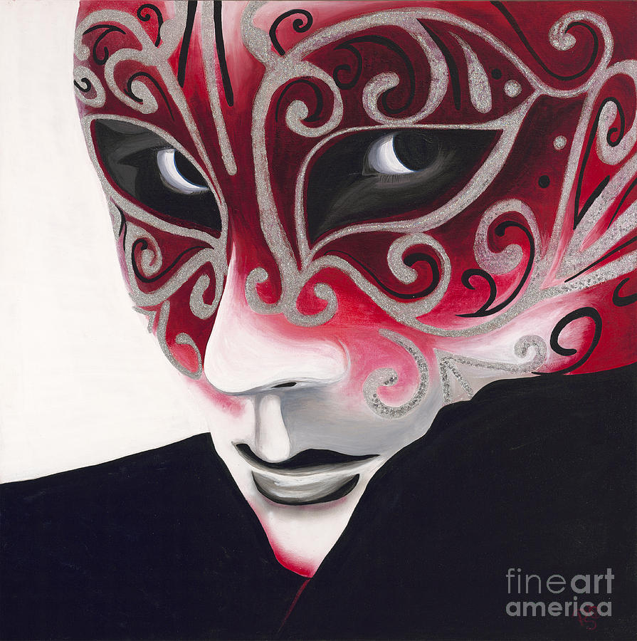 Silver Flair Mask Painting