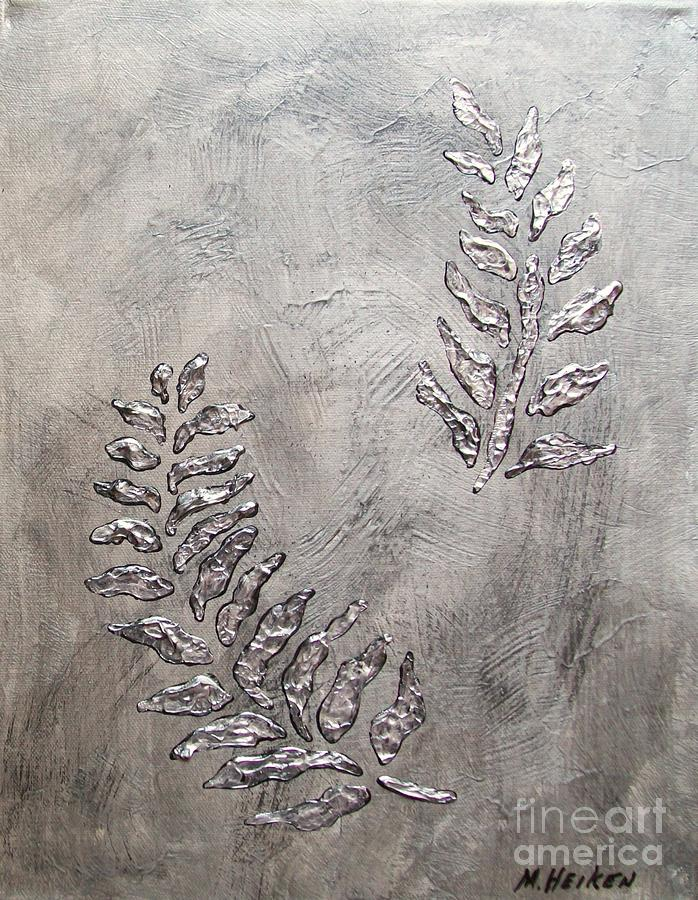 Silver Leaves Painting