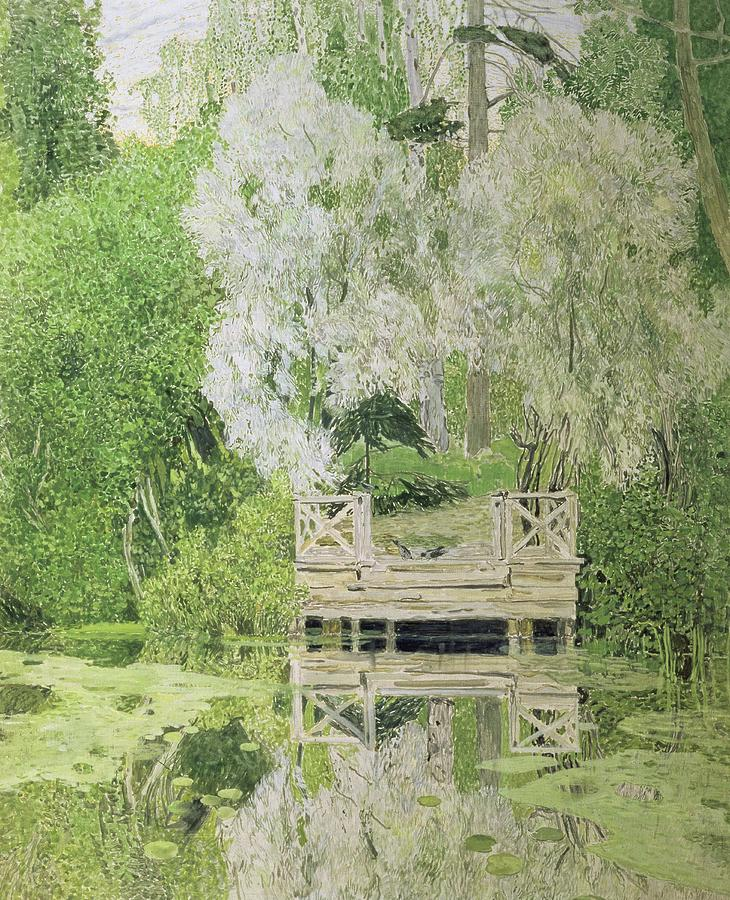 Silver White Willow Painting