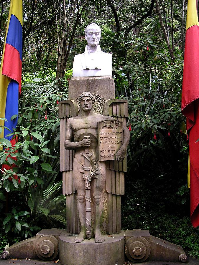 Simon Bolivar Bust  Photograph