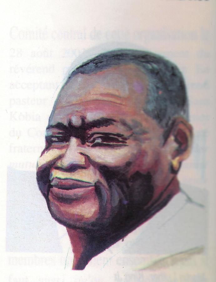Portraits Painting - Simon Kimbangu by Emmanuel Baliyanga