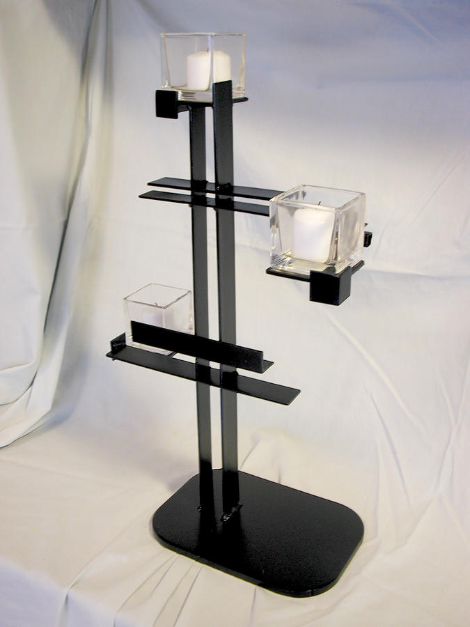 Simple De Stijl Candle Holder  Sculpture