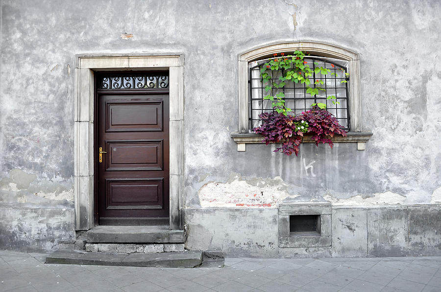 Simple Old House Facade. Photograph