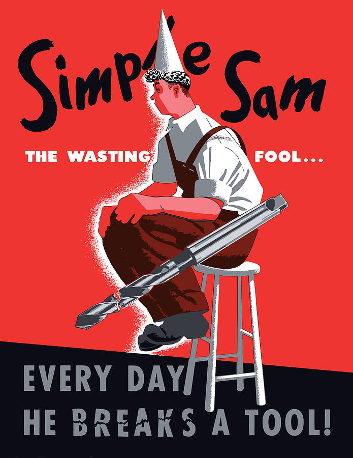 Simple Sam The Wasting Fool Painting  - Simple Sam The Wasting Fool Fine Art Print