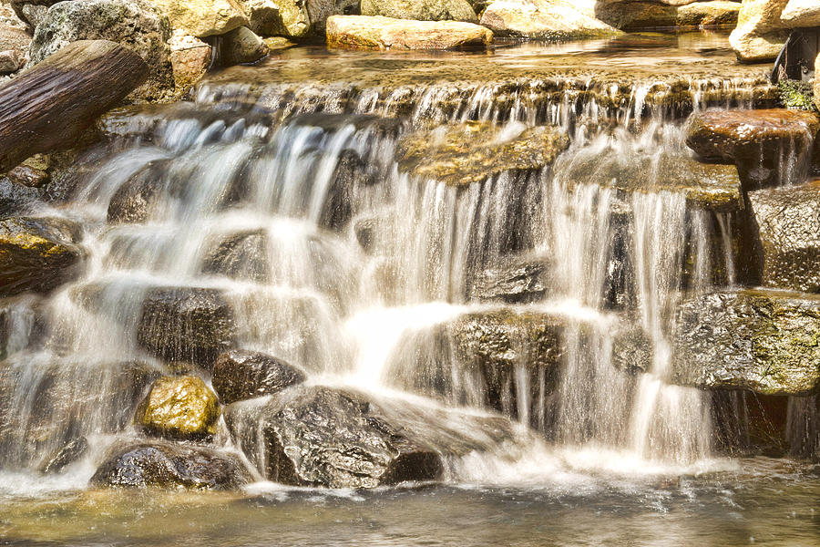 Waterfall Photograph - Simple Yet Powerful Waterfall by Daphne Sampson