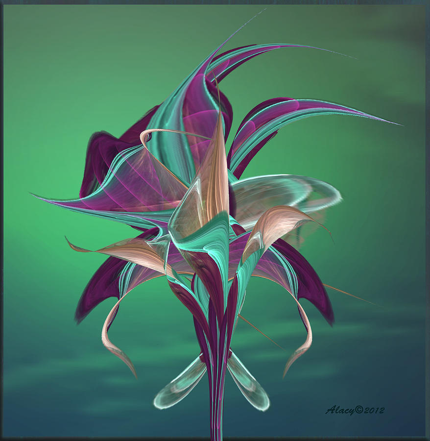 Simply Elegant Digital Art  - Simply Elegant Fine Art Print