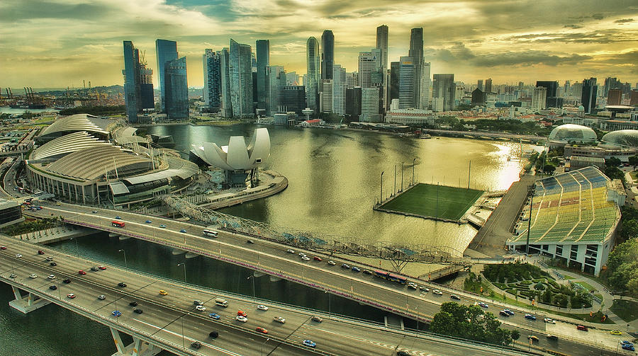 Singapore City On The Move Photograph