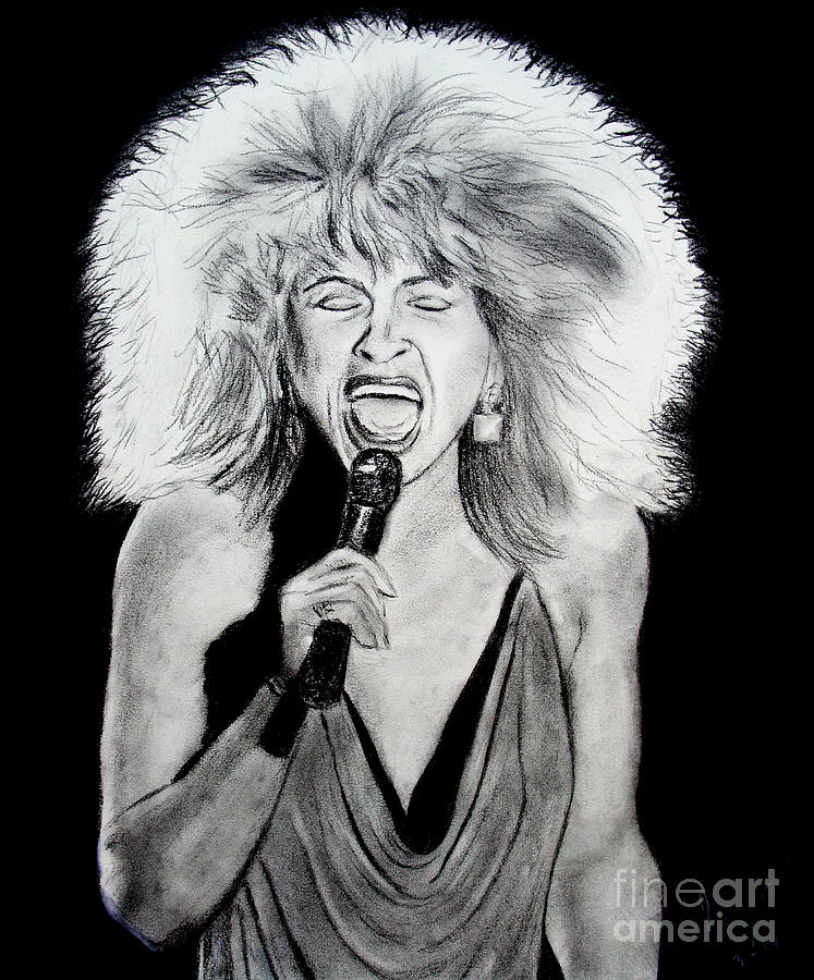 Singer And Actress Tina Turner Drawing