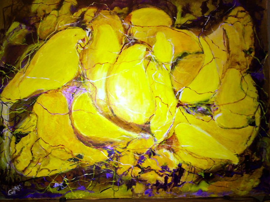 Singing Canaries Painting