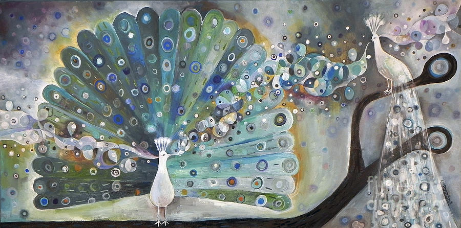 Singing Peacock Painting