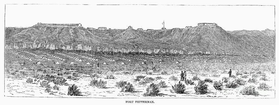 1876 Photograph - Sioux War: Fort Fetterman by Granger