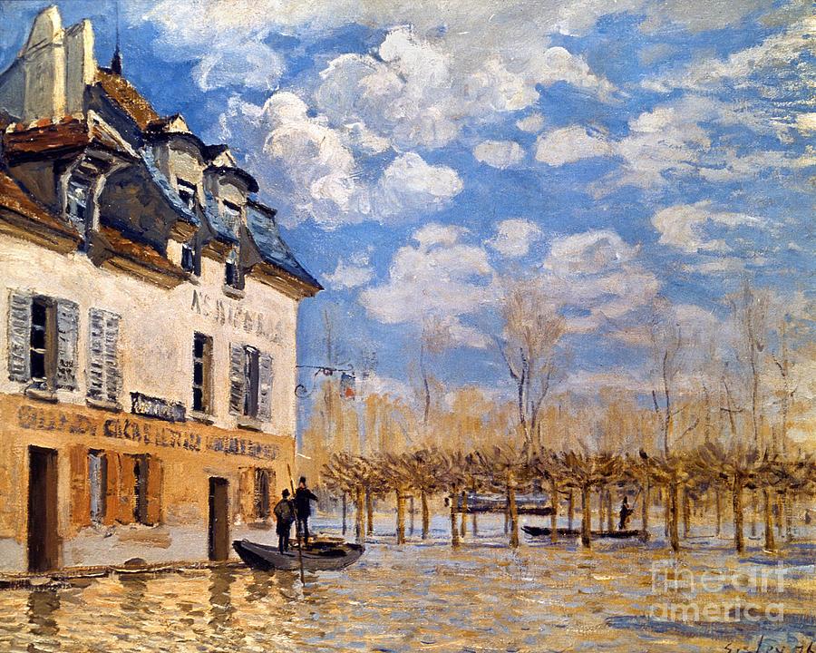 Sisley: Flood, 1876 Photograph