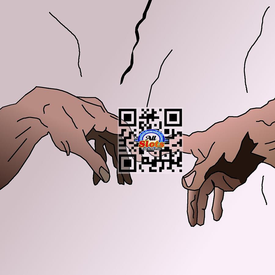 Sistine Qr Code Drawing by Casino Artist