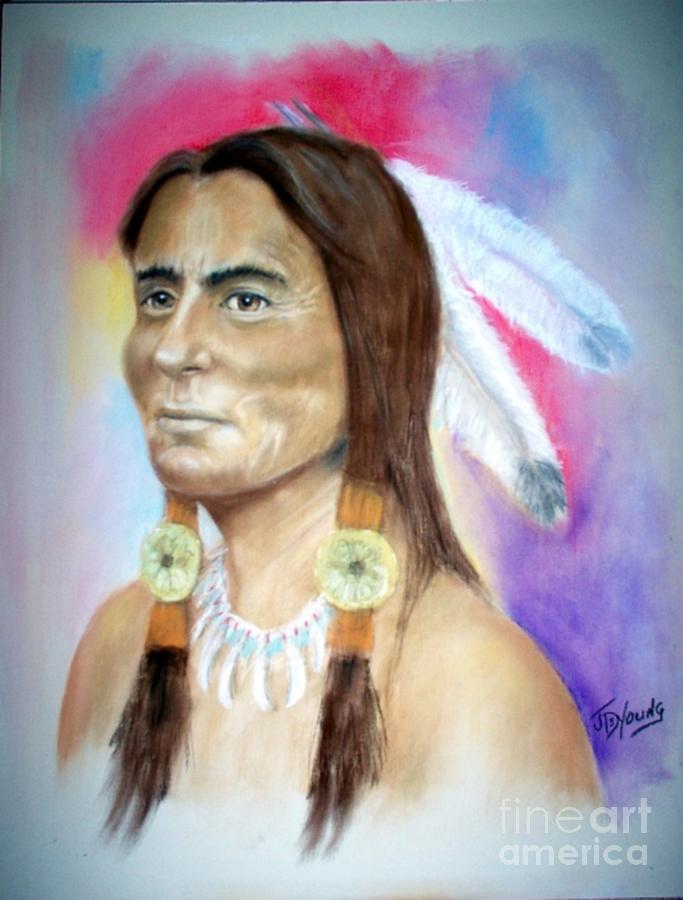 Sitting Bull Pastel