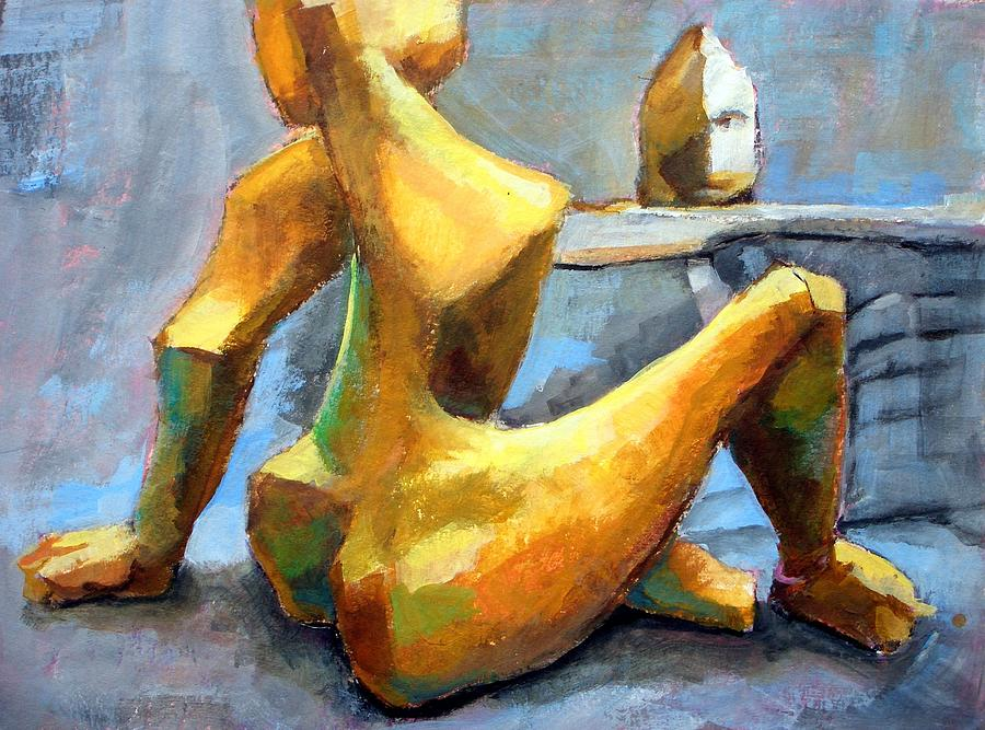Sitting Nude Painting