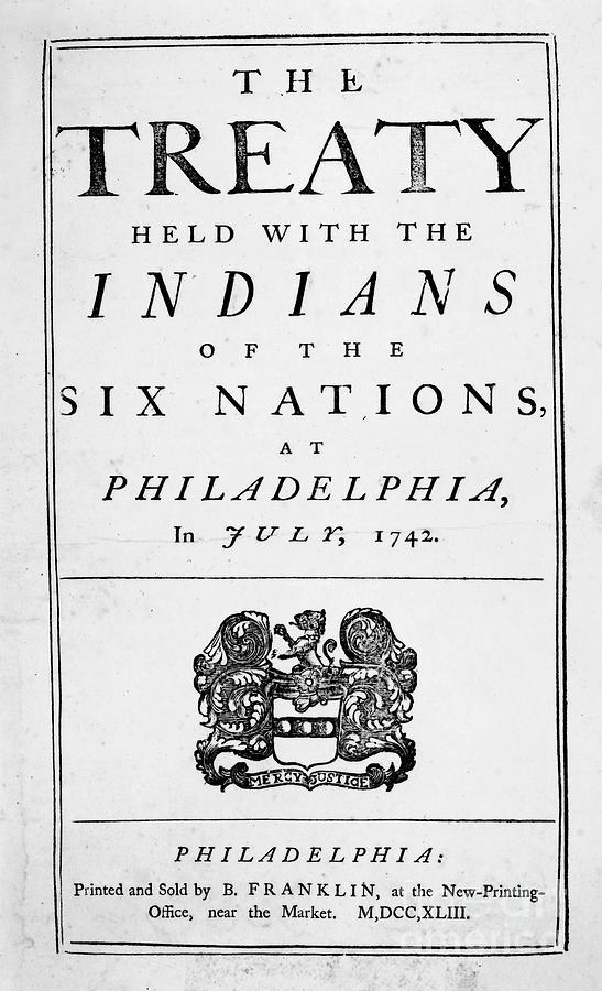 Six Nations Treaty, 1742 Photograph