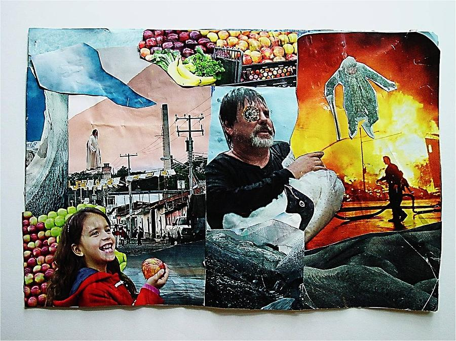 Collage Mixed Media - Six Oclock News by Ward Smith