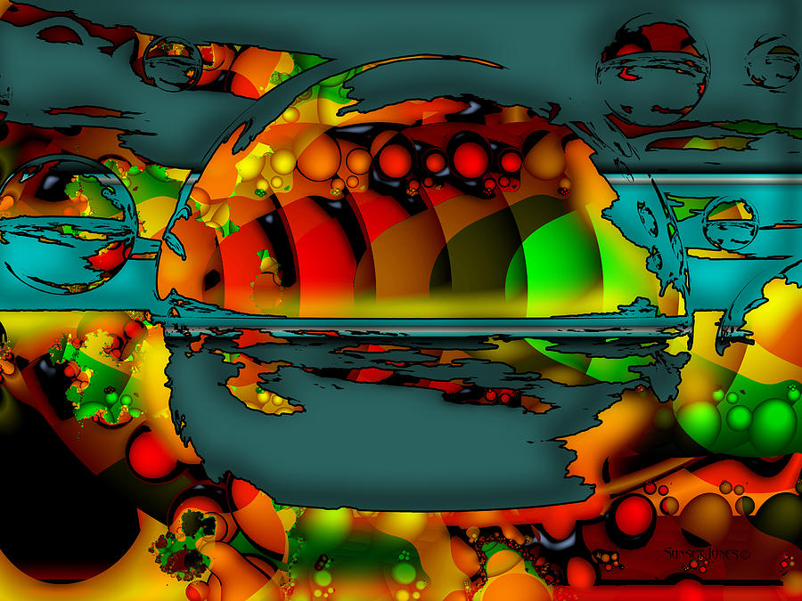 Peter Max Digital Art - Sixty Eight by Robert Orinski