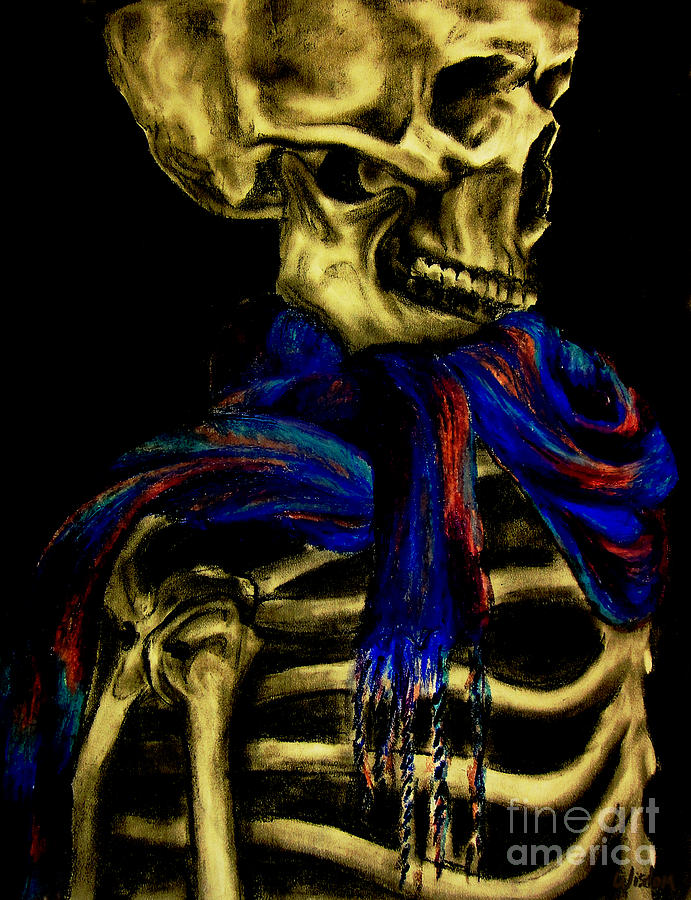 Skeleton Fashion Victim Drawing  - Skeleton Fashion Victim Fine Art Print