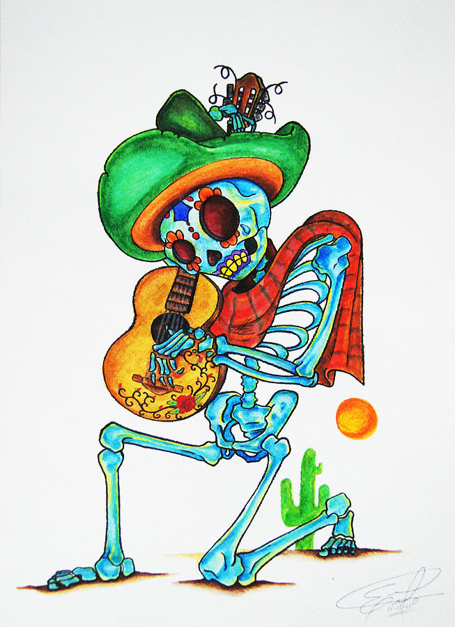 Skeleton Sombrero Painting