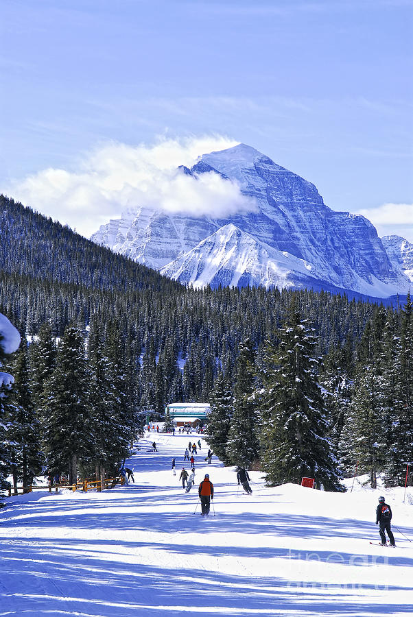 Skiing In Mountains Photograph