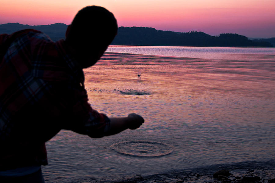 Skipping Stones Photograph