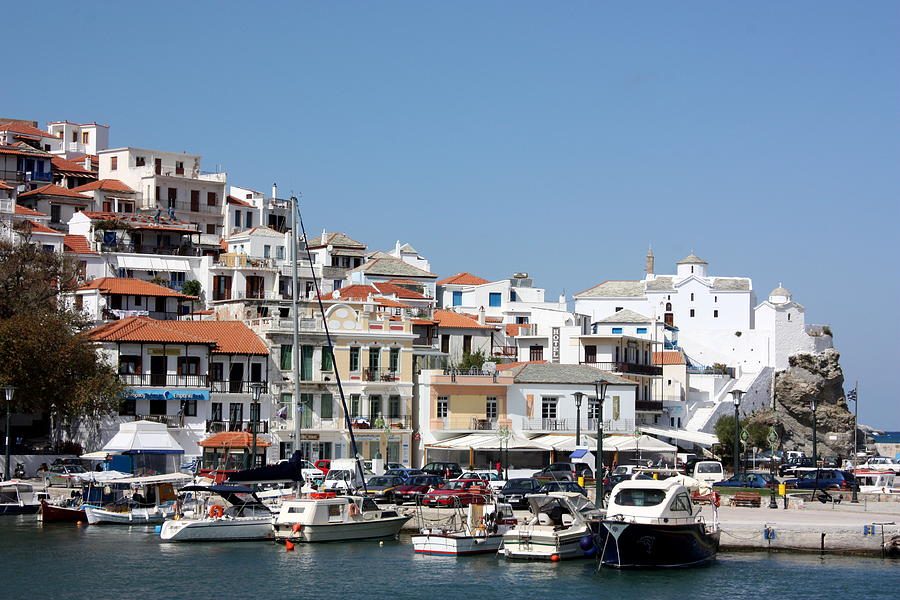 Skopelos Harbour Greece Photograph