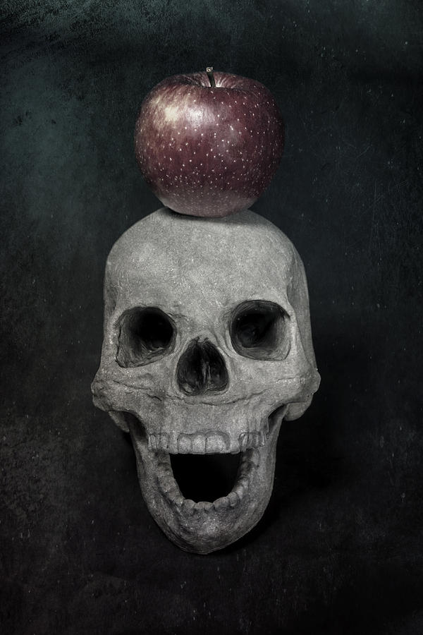 Skull And Apple Photograph