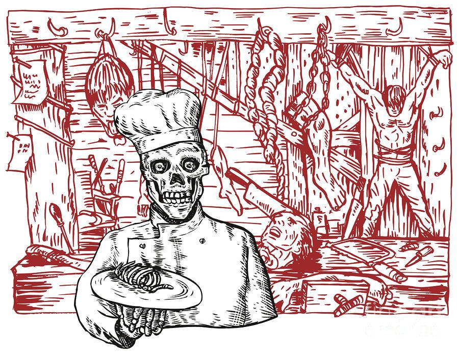 Skull Cook Digital Art