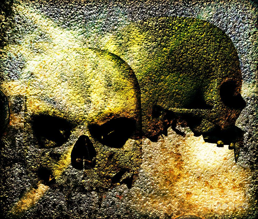 Skull Of The Vampire Mixed Media  - Skull Of The Vampire Fine Art Print