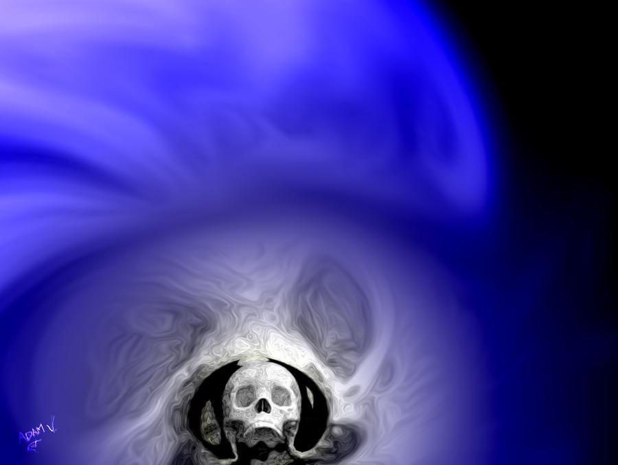 Skull Scope 1 Painting  - Skull Scope 1 Fine Art Print