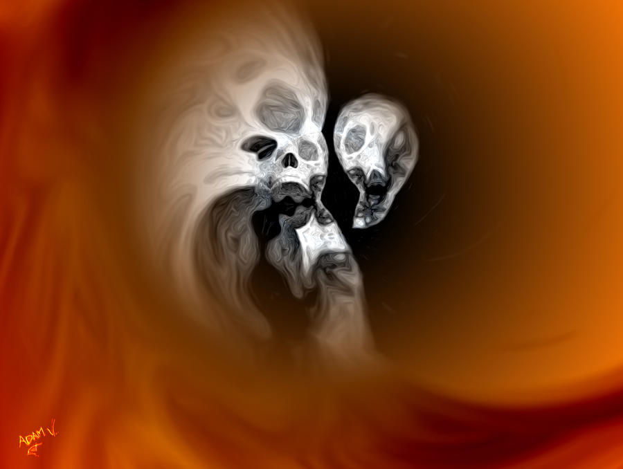Skull Scope 2 Painting  - Skull Scope 2 Fine Art Print